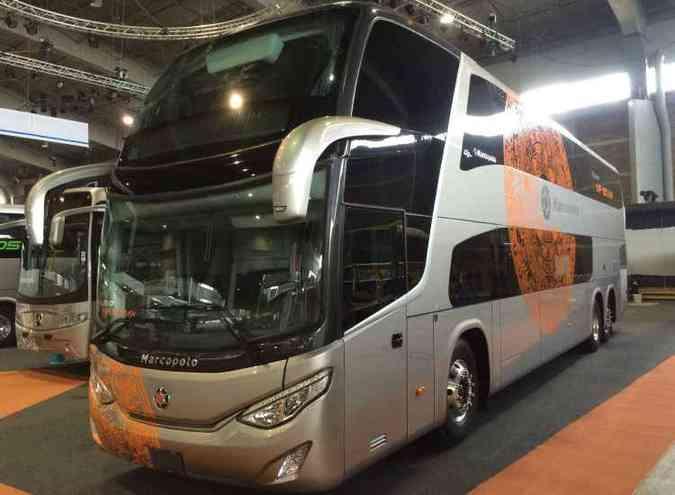 Marcopolo 180 MX, DD baseado no Paradiso 1800 brasileiro(foto: Turiassu de Araujo/Divulgação Marcopolo)
