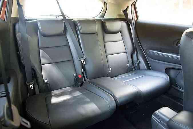 Assoalho plano dá mais conforto para os passageiros do HR-V(foto: Thiago Ventura/EM/D.A Press)