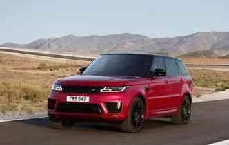 O Range Rover Sport recebeu atualização no design externo. Foto: Jaguar Land Rover / Divulgação