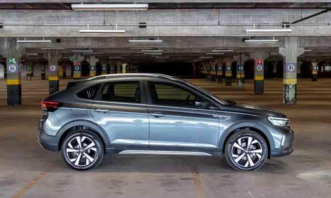 Já a estreia do VW Nivus foi um pouco decepcionante, mas modelo tem potencial(foto: Jorge Lopes/EM/D.A Press)