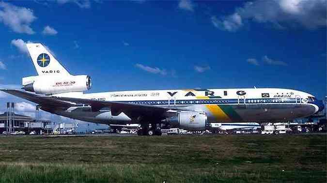 DC10 da Varig trouxe dos Estados Unidos a Seleção Tetracampeã em 1994 (foto: (AalainDurand/Airliners.net/Reprodução))