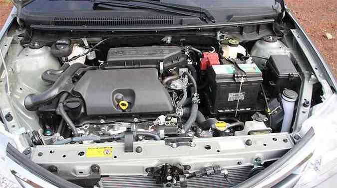 Motor 1.5 16V tem bom desempenho mesmo em baixas rotações
