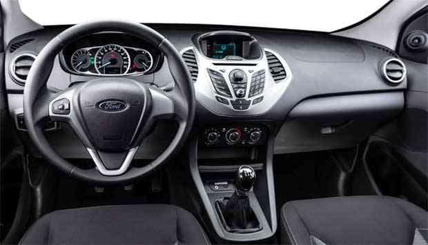 Modelo Tem Interior Moderno Bem Acabado E Instrumentos De Facil Interacao Ford Divulgacao