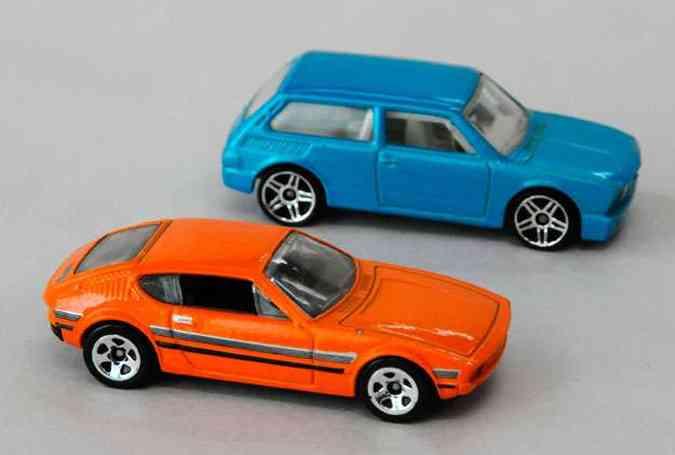 Hot Wheels Volkswagen SP2 e Brasilia (foto: Euler Junior/EM/D.A Press)