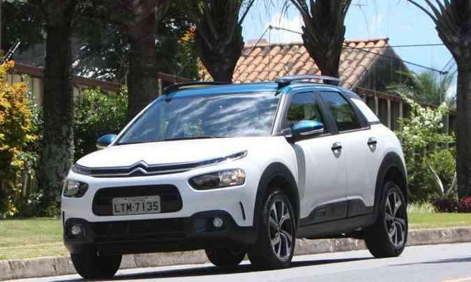O Citroën Cactus é o único veículo de passeio disponível no site da marca francesa no Brasil(foto: Edésio Ferreira/EM/D.A Press)