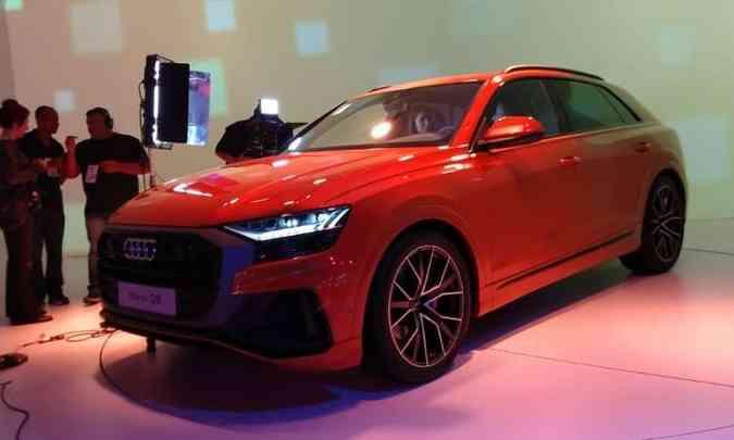 Audi mostra o belo Q8, com linhas aerodinâmicas(foto: Pedro Cerqueira/EM/D.A Press)