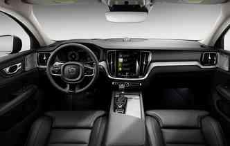 Existe ainda um painel de instrumentos digital de 12,3%u201D disponível, que traz informações mais relevantes para o motorista. Foto: Volvo / Divulgação