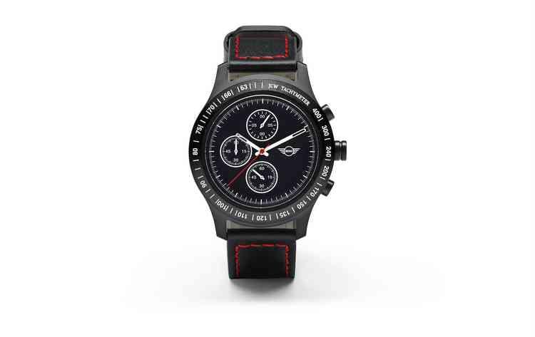 Relógio John Cooper Works Tachymeter custa R$ 1.598 a unidade. FOTO: BMW/Divulgação   - Relógio John Cooper Works Tachymeter custa R$ 1.598 a unidade. FOTO: BMW/Divulgação