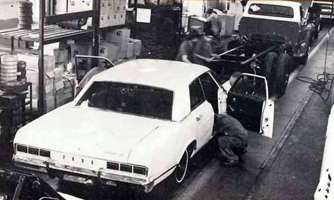 O luxuoso Galaxie foi o primeiro automóvel da Ford fabricado no Brasil(foto: Ford/Divulgação)