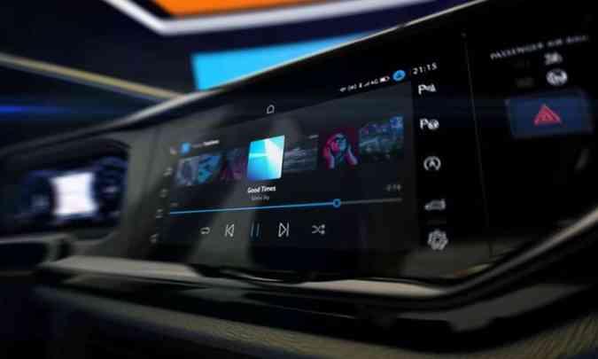 Painel de instrumentos e multimídia se fundem em conjunto único digital(foto: Volkswagen/Divulgação)