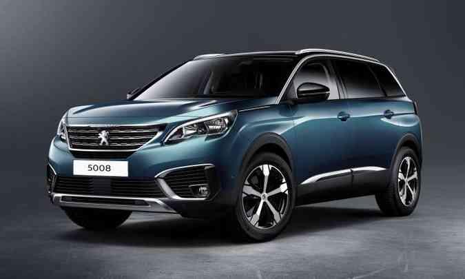 A Peugeot confirmou a chegada do crossover grande 5008 no Brasil para o primeiro semestre de 2018(foto: Peugeot/Divulgação)