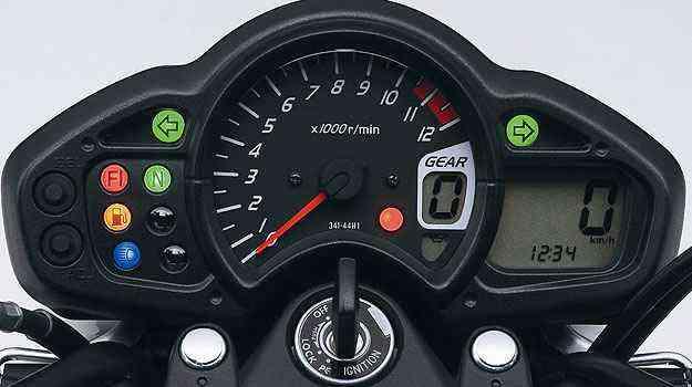 O painel da Gladius 650 mescla elementos analógicos e digitais - Suzuki/Divulgação