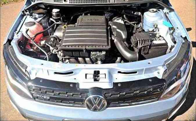 Novo motor 1.6 MSI tem 16 válvulas mas entrega um bom torque em baixas rotações(foto: Leandro Couri/EM/D.A Press)