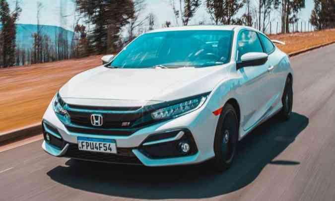 Honda Civic SI: ganhou novo motor 1.5 turbo de 208cv de potência(foto: Jorge Lopes/EM/D.A Press)
