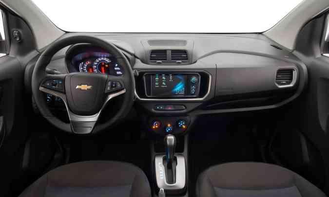 Entre os itens de série, multimídia Mylink com Apple CarPlay e Android Auto(foto: Chevrolet/Divulgação)