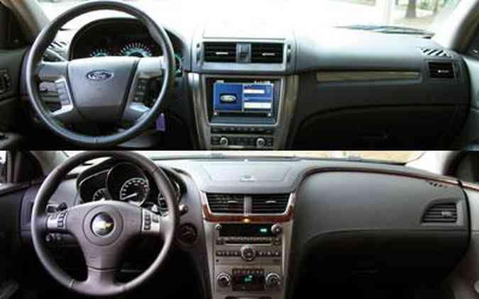 Interior é bem acabado nos dois carros, deixando-os empatados em qualidade