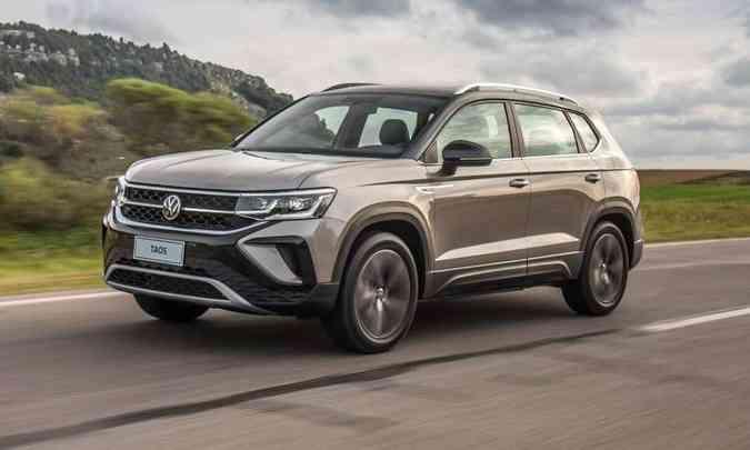 VW Taos Comfortline com o pacote conforto tem preço sugerido de R$ 160.410, mas é vendido por R$ 165.200 (foto: Volkswagen/Divulgação)
