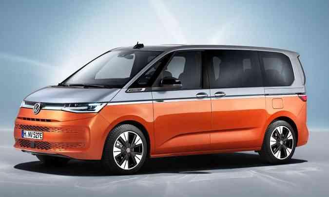 Multivan T7 tem opção de motorização híbrida(foto: Volkswagen/Divulgação)