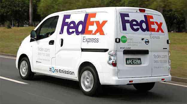 Furgão elétrico foi usado pela FedEx no Rio de Janeiro -