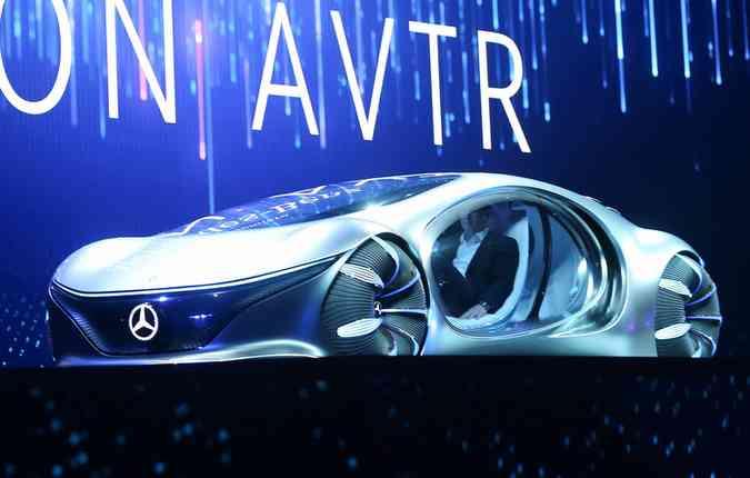 Mercedes-Benz Avatar conceito no CES 2020. Foto: Mario Tama/Getty Images/AFP