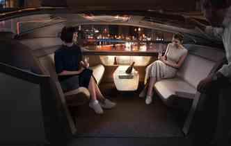 Também será possível utilizar o espaço como área de lazer. Foto: Volvo / Divulgação