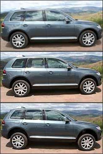 Suspensão pneumática permite variar, de modo manual ou automático, altura do solo de 160 mm a 300 mm, facilitando a rodagem no asfalto ou no fora-de-estrada(foto: Marlos Ney Vidal/EM - 11/3/08)