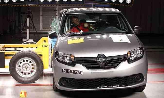 Renault tira nota baixa no teste do LatinNCAP(foto: LatinNCAP/Divulgação)