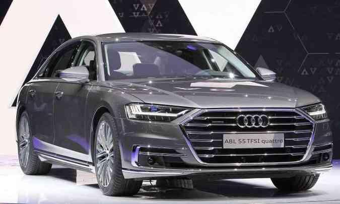 Novo Audi A8 chega com avanços em condução autônoma(foto: Daniel Roland e Tobias Schwarz/AFP)