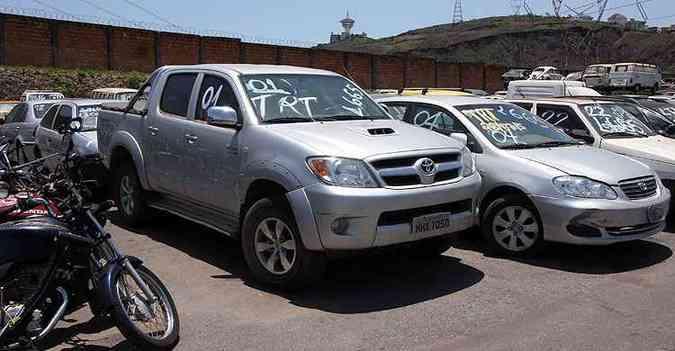 Leilão do Detran-MG vai vender 171 veículos, incluindo esta Hilux(foto: Edésio Ferreira/EM/D.A Press)