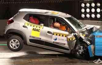 Em relação à proteção para os adultos o modelo não recebeu nenhuma estrela(foto: Global NCAP / Divulgação)