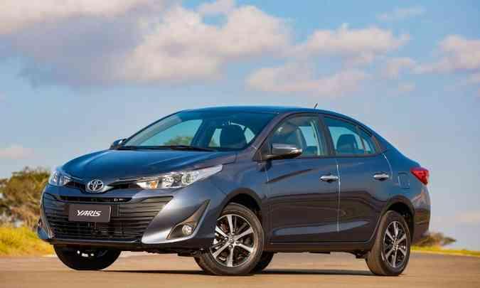 Toyota Yaris tomou a segunda colocação dos sedãs compactos premium do Fiat Cronos(foto: Toyota/Divulgação)