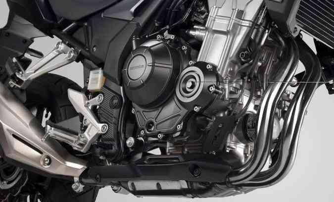 O motor, com dois cilindros paralelos, ganhou mais torque(foto: Honda/Divulgação)