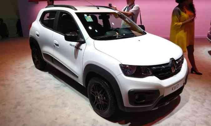 A Renault apresenta também o Kwid Outsider, versão aventureira(foto: Pedro Cerqueira/EM/D.A Press)