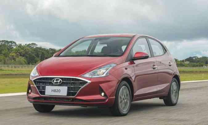 O Hyundai HB20 foi o terceiro modelo mais emplacado no acumulado do ano, com 30.512 unidades(foto: Hyundai/Divulgação)