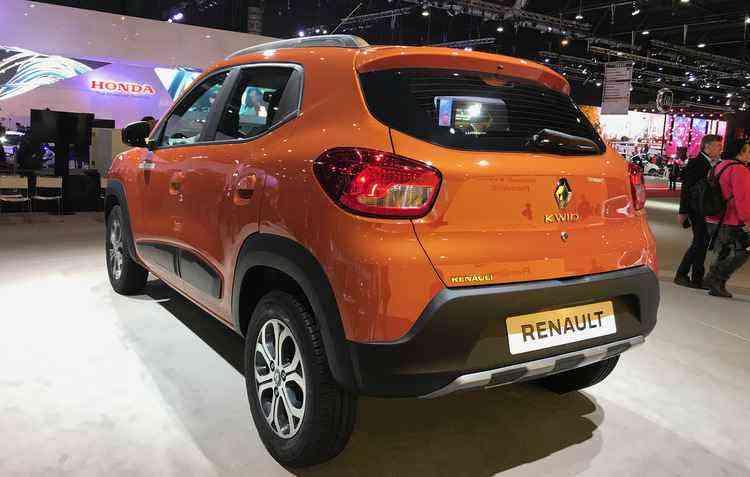Dimensões divulgadas pela Renault já revela que o Kwid é ainda menor que o up! - Jorge Moraes / DP