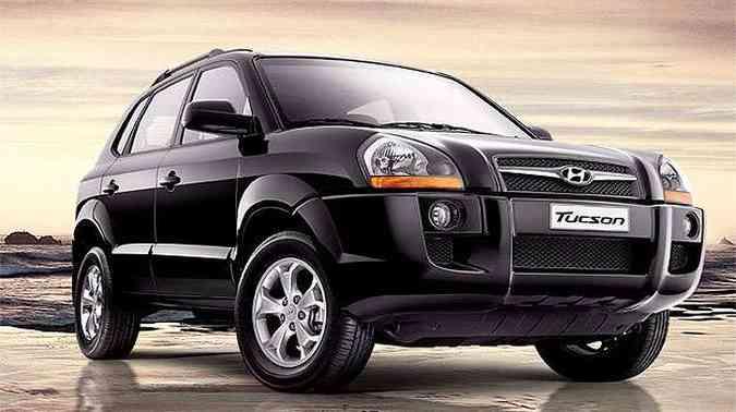 Com design defasado, Tucson vendeu 756 unidades(foto: Hyundai/Divulgação)