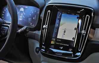 Nova geração do Sensus terá aplicativos e atualização de software disponíveis em tempo real. Foto: Volvo / Divulgação