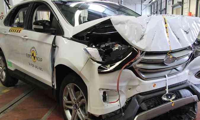Novo Ford Edge após a bateria de testes de impacto(foto: Euro NCAP/Divulgação)