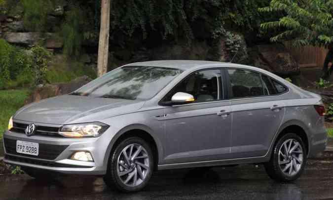 VW Virtus chegou ao mercado em fevereiro e já no fim de março liderava o segmento dos sedãs compactos premium(foto: Juarez Rodrigues/EM/D.A Press)