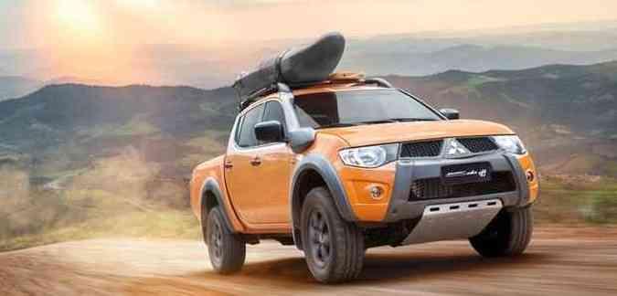 Carro chega na cor laranja sunshine(foto: Mitsubishi/divulgação )