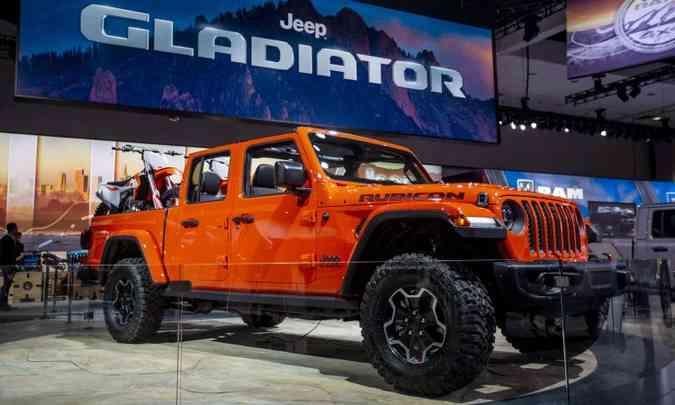 O Jeep Gladiator é a verdadeira reencarnação da picape Willys F75(foto: Los Angeles Auto Show/Divulgação)