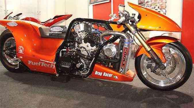 Entre as atrações da feira estarão modelos especiais, como um dragster com motor de 500cv(foto: Fotos: Motofair/Divulgação)
