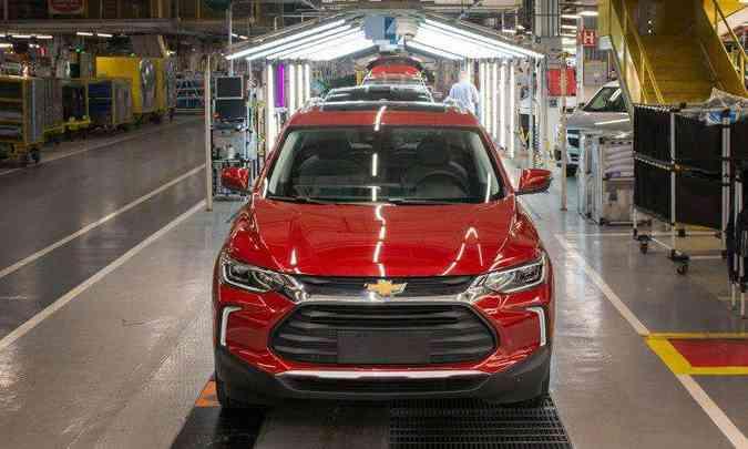 Na fábrica de São Caetano do Sul (SP), onde é feito o Tracker, também será retomado o segundo turno de trabalho(foto: General Motors/Divulgação)