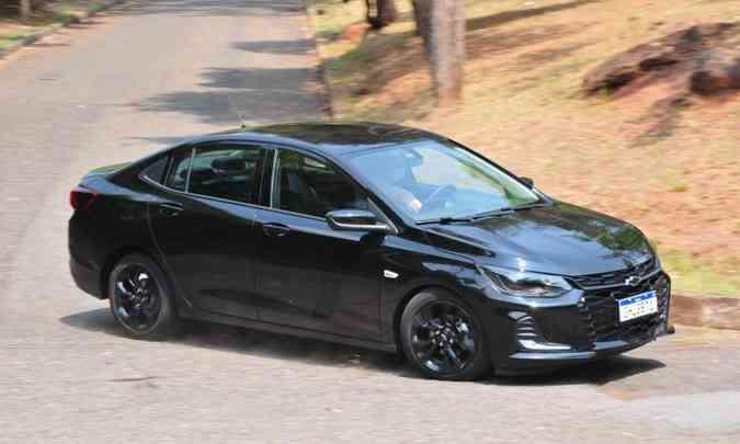 E no segmento de sedãs compactos premium o destaque é o Chevrolet Onix Plus, com 13.640 unidades emplacadas(foto: Gladyston Rodrigues/EM/D.A Press)