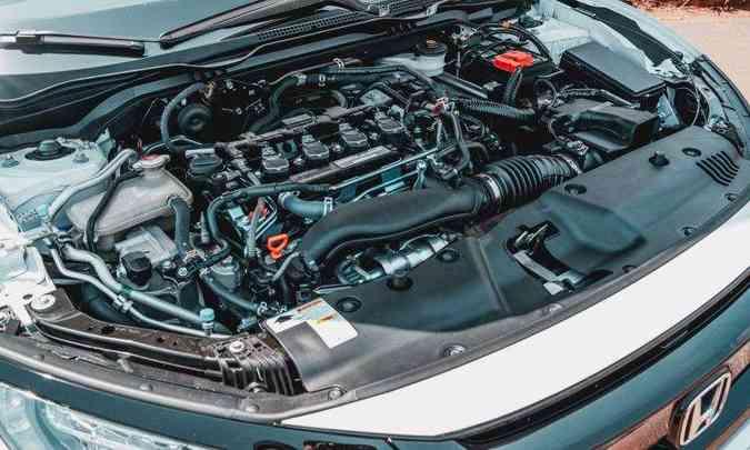 Motor 1.5 turbo a gasolina desenvolve 208cv e 26,5kgfm de torque, garantindo bom desempenho (foto: Jorge Lopes/EM/D.A Press)