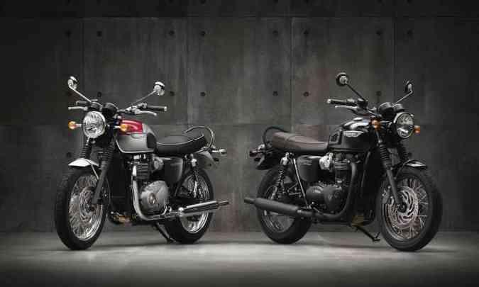 As Bonnevilles T1200 e T1200 Black têm mapas de motor, controle de tração e ABS(foto: Triumph/Divulgação )