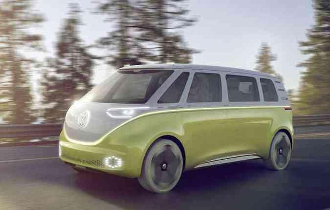 Marca alemã afirmou que está trabalhando na ID Buzz equipada com propulsão 100% elétrica(foto: Volkswagen/Divulgação)