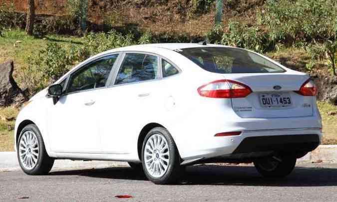 Ford Fiesta sedã não contará com a motorização por ora(foto: Marlos Ney Vidal)