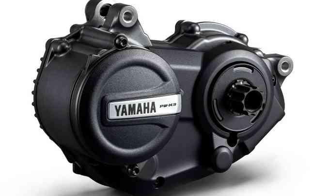 Com potência de 250W e 8,7kgfm de torque, o motor elétrico leva bicicleta à velocidade máxima assistida de 25km/h(foto: Yamaha/Divulgação)