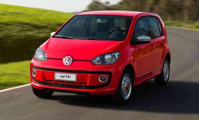 Volkswagen up! TSI tem 105 cv e torque de 16,8 kgfm(foto: Volkswagen/Divulgação)